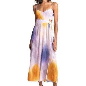 A.L.C. Sienna Pleated Ombe Midi Dress